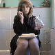 In this dine & dump scene, a pretty Australian girl eats chips and a sandwich while taking a shit. It is hard one, so it takes about 3.5 minutes for the plops to be heard. She wipes her ass with a towel. 720P HD. 145MB, MP4 file. Over 7.5 minutes.