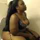 A BBW black girl records herself taking a piss and a shit while sitting on a toilet. Some small plops are heard. She wipes when finished. No product shown. Presented in 720P HD. Over 2 minutes.