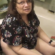 In this series, a couple of older, fat girls record themselves taking a shit while sitting on a toilet. Audible pissing and very subtle plop as some guy films her. She fishes the turd out of the toilet bowl when finished for a better view. Over 3 minutes.