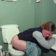 A blonde woman wakes up to severe stomach cramps. She takes a piss and a massive shit into a toilet, holding her nose afterward. She wipes and shows us the poop in the toilet bowl during the flush. 720P HD. 126MB file. Over 8 minutes.
