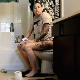 A girl with tattoos farts, pisses and shits while sitting on a toilet. Subtle plops and pooping sounds are heard. Presented in 720P HD. About 7 minutes.