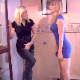 Two girls, Lily & Amber, arrive at a house and really have to pee. They desperately look around the home for a bathroom to use and finally get their much needed relief as the pee in front of one another.