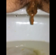 This brief, but nice clip shows a between the legs perspective of a woman taking a wet, sloppy shit into a toilet. About a minute.