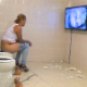 2 women take shits into toilets with men trapped beneath their asses. The girls can watch the faces of the men get buried in their shit on video monitors along the wall. The second, pregnant girl does not shit much. 720P HD. 234MB. About 17 minutes.