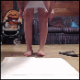 Raena records herself shitting and pissing on a diaper pad. We can hear her pushing and grunting to get it all out. Over a minute.
